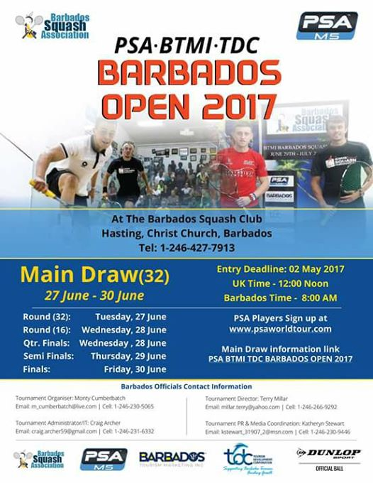 PSA BTMI TDC Barbados Men's Open 2017