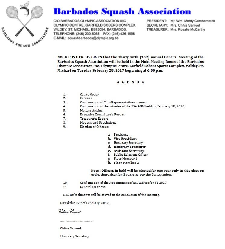 AGM Notice 2017