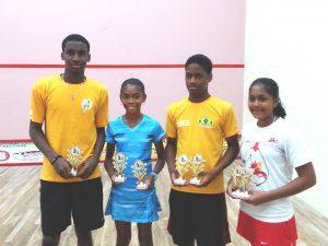 Winners St. Vincent Junior Squash Open 2015