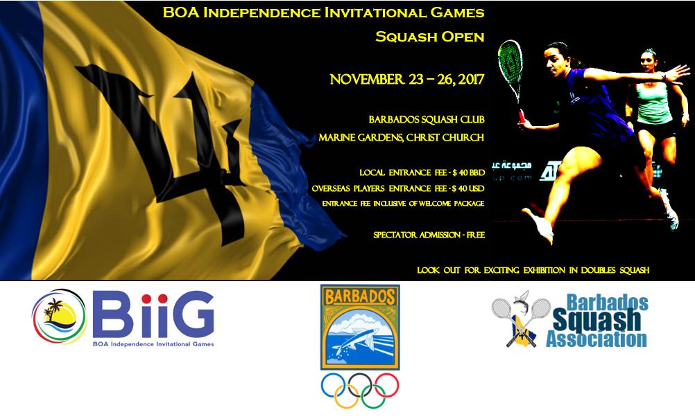 BiiG Squash Open at the Barbados Squash Club